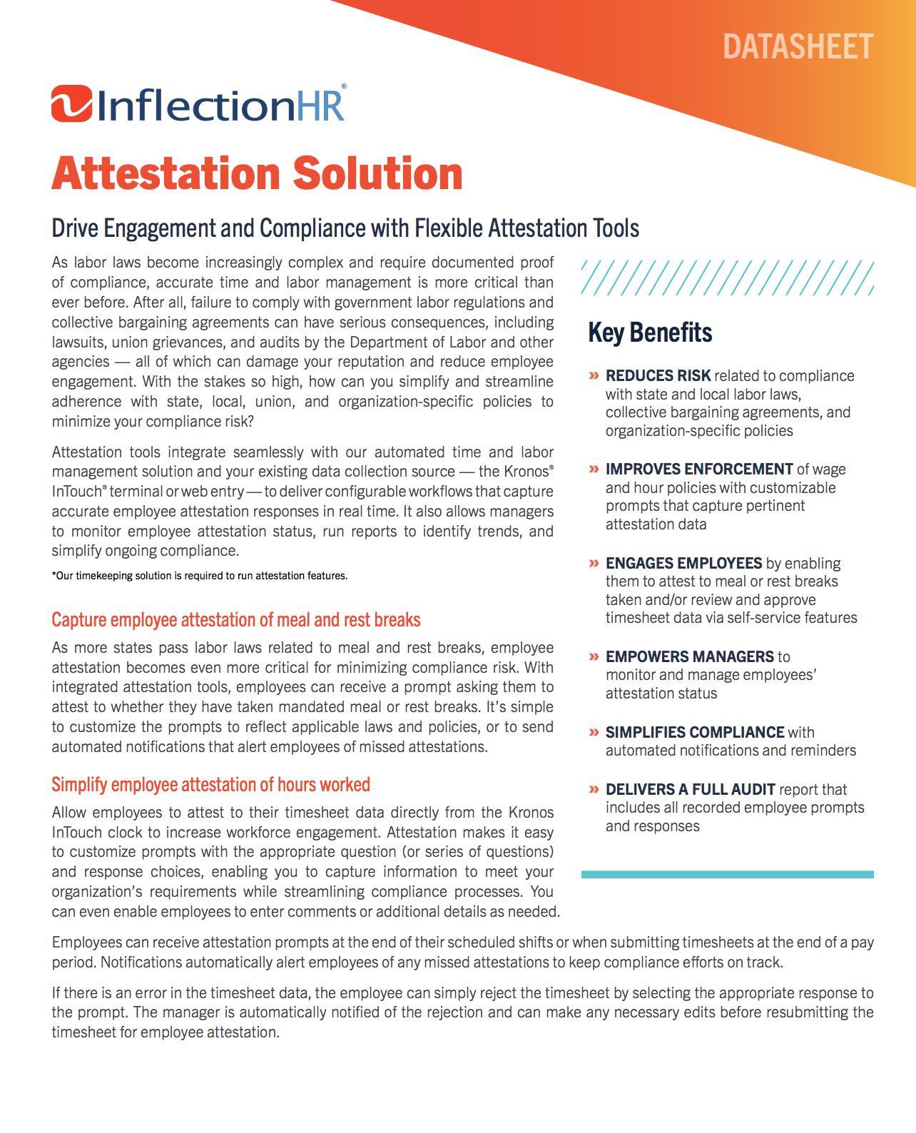 Attestation Solution Datasheet | Inflection HR