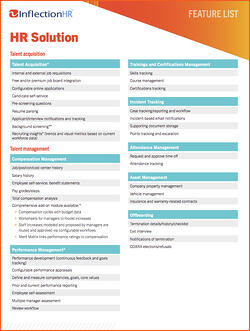 HR Solution Feature List Cover