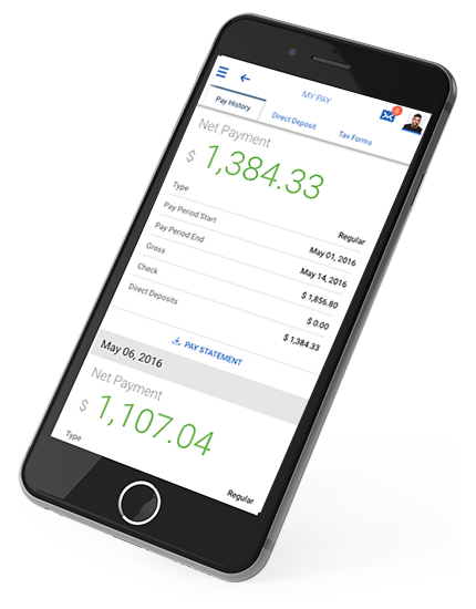Cloud-Based Payroll Solution Mobile View