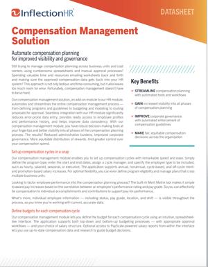 Compensation Management Solution Datasheet   Inflection HR