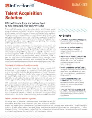 Talent Acquisition Solution Datasheet | Inflection HR