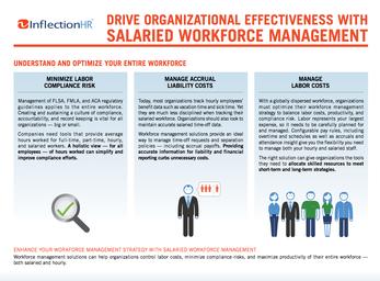 Drive Organizational Effectiveness With Salaried Workforce Management