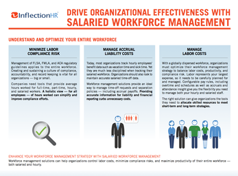 Drive Organizational Effectiveness With Salaried Workforce Management