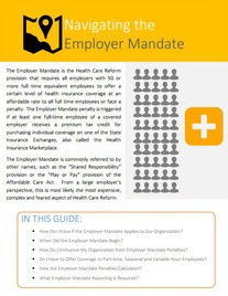 ACA Guide: Navigating The Employer Mandate